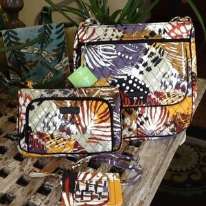 NWT VERA BRADLEY PAINTED FEATHERS MAILBAG SET